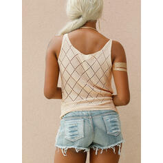 Solid Strap Casual Sweaters