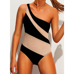 Colorful One-Shoulder Sexy One-piece Swimsuits