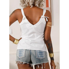Solid Spaghetti Strap Sleeveless Casual Basic Tank Tops