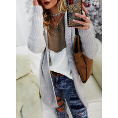 Solid Hooded Casual Cardigan