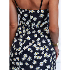 Print/Floral Lace Sleeveless A-line Above Knee Casual Slip/Skater Dresses