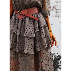 Print 1/2 Sleeves A-line Skater Casual Maxi Dresses