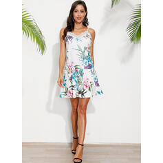 Lace/Print/Floral Sleeveless Shift Above Knee Casual/Vacation Dresses