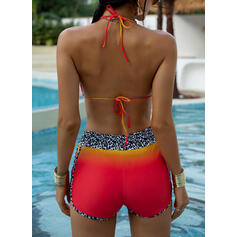 High Waist Halter Sports Vintage Bikinis Swimsuits