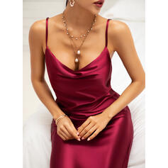 Solid Sleeveless Sheath Knee Length Sexy/Casual/Party Dresses