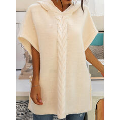 Solid 1/2 Sleeves Shift Sweater Casual Midi Dresses