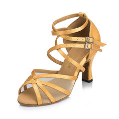 Women's Latin Heels Sandals Satin With Hollow-out Latin