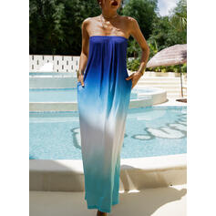 Tie Dye Sleeveless A-line Casual/Vacation Maxi Dresses