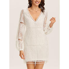 Solid Color V-Neck Casual Vacation Cover-ups Swimsuits