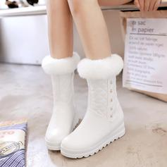 Women's Leatherette Wedge Heel Boots Closed Toe Wedges With Others