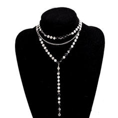 Shining Rhinestones Copper With Rhinestone Ladies' Fashion Necklace