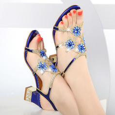 Women's Real Leather Stiletto Heel Sandals Pumps With Applique Flower shoes