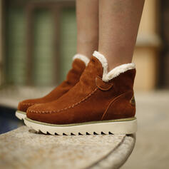 Women's Suede Wedge Heel Winter Boots Snow Boots With Solid Color shoes