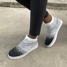 Women's Mesh Flat Heel Ankle Boots Round Toe With Solid Color Embroidery shoes
