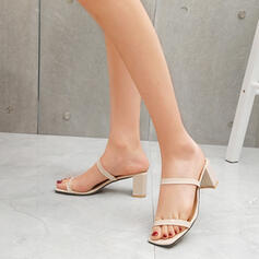 Women's Leatherette Chunky Heel Sandals With Others shoes