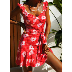 Print/Floral/PolkaDot Sleeveless A-line Above Knee Casual/Vacation Dresses