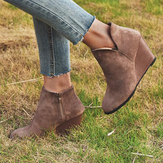 Women's PU Wedge Heel Boots With Others shoes