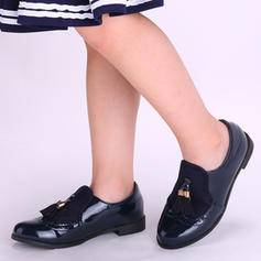 Girl's Leatherette Flat Heel Closed Toe Loafers & Slip-Ons Flats Flower Girl Shoes With Tassel