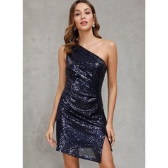 Sequins Sleeveless Sheath Above Knee Sexy/Party Dresses