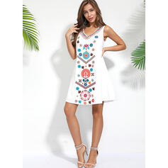 Print/Floral Sleeveless Shift Knee Length Casual/Boho/Vacation Dresses