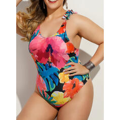 Tropical Print Strap Sexy One-piece Swimsuits