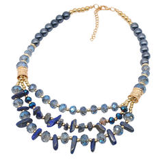 Beautiful Fashionable Simple Natural Stone Alloy Women's Necklaces