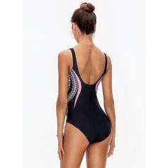 Floral Strap V-Neck Sexy Plus Size One-piece Swimsuits