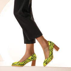 Women's PU Chunky Heel Pumps With Animal Print shoes