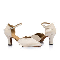 Women's Ballroom Sandals Silk With Ankle Strap Latin