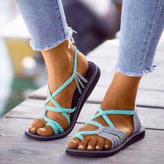 Women's Flat Heel Sandals Peep Toe With Hollow-out shoes