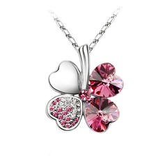Clover Alloy Crystal Ladies' Necklaces