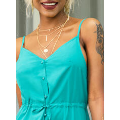 Solid Sleeveless A-line Slip Little Black/Casual/Vacation Maxi Dresses