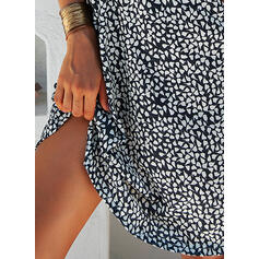 Print Short Sleeves A-line Knee Length Casual/Vacation Dresses