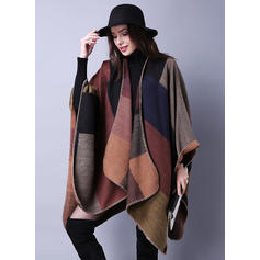 Geometric Print Oversized/Cold weather Poncho