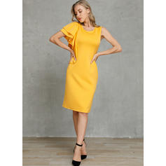 Solid Sleeveless Bodycon Knee Length Casual/Party/Elegant Pencil Dresses