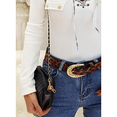 Print Figure V-Neck Long Sleeves Casual Knit Blouses