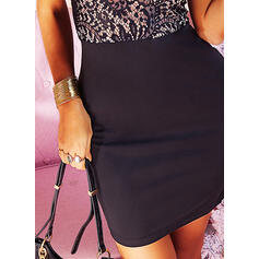 Lace/Solid Sleeveless Bodycon Above Knee Casual/Party/Elegant Dresses