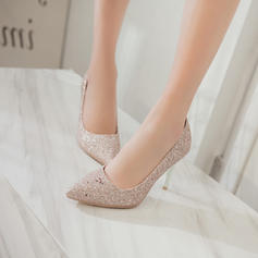 Women's Sparkling Glitter Stiletto Heel Pumps Closed Toe With Sequin shoes