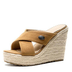 Women's Suede Wedge Heel Sandals Wedges Slippers shoes