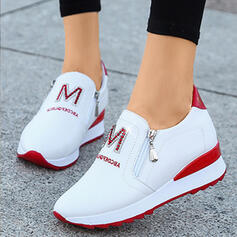 Women's PU Casual Outdoor Athletic With Zipper Letter shoes