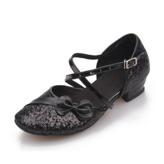 Women's Ballroom Sandals Sparkling Glitter With Buckle Hollow-out Latin