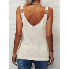 Backless Solid Strap Sleeveless Tank Tops