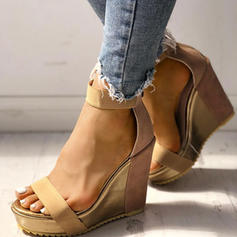 Fabric Wedge Heel Sandals Pumps Wedges With Buckle shoes