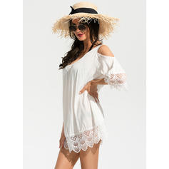 Solid Color U-Neck Sexy Cover-ups Swimsuits
