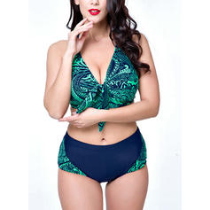 Floral Halter Sexy Bikinis Swimsuits