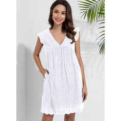 Print Short Sleeves Small Flying Sleeve Shift Above Knee Little Black/Casual Dresses