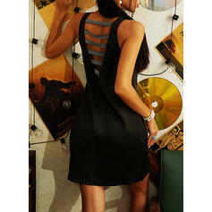 Sequins/Solid/Backless Sleeveless Sheath Above Knee Sexy/Party Dresses