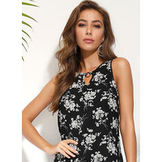 Print/Floral Sleeveless A-line Above Knee Casual/Boho/Vacation Skater Dresses