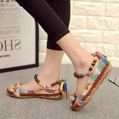 Women's PU Flat Heel Flats With Beading shoes
