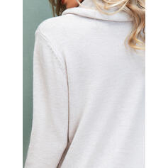 Print Cowl Neck Casual Sweaters